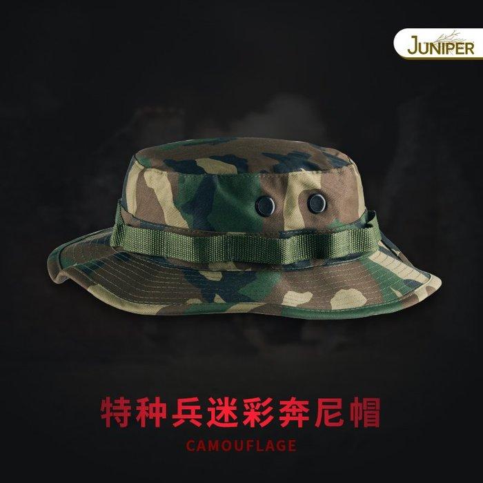預售款-LKQJD-迷彩特種兵軍版奔尼帽漁夫帽盆帽釣魚帽子男防曬遮臉夏遮陽帽戶外