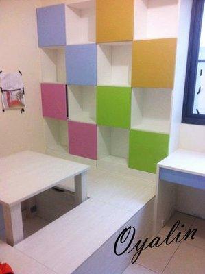 [歐雅系統家具]設計分享--系統板材 繽紛系統櫃 幸福粉彩收納櫃 總價100327特價70229 台北市
