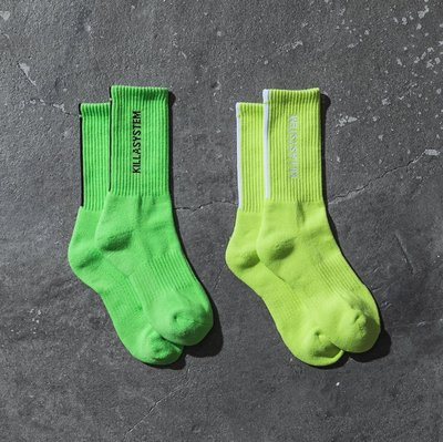 【希望商店】UGLY SYMPTOM x KILLA SYSTEM 聯名 螢光色 長襪 襪子