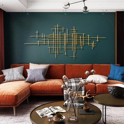 莉迪卡娜~北歐創意壁飾金色輕奢掛飾客廳墻面墻壁沙發背景墻鐵藝裝飾品掛件