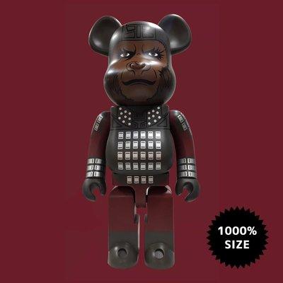 全新 Bearbrick 1000% Planet of the Apes 猩球崛起 決戰猩球