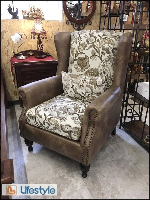 美國Lifestyle 美式古典鄉村風 皮革主人椅 單人座沙發椅休閒椅房間客廳椅泡茶椅洽談椅【歐舍傢飾】