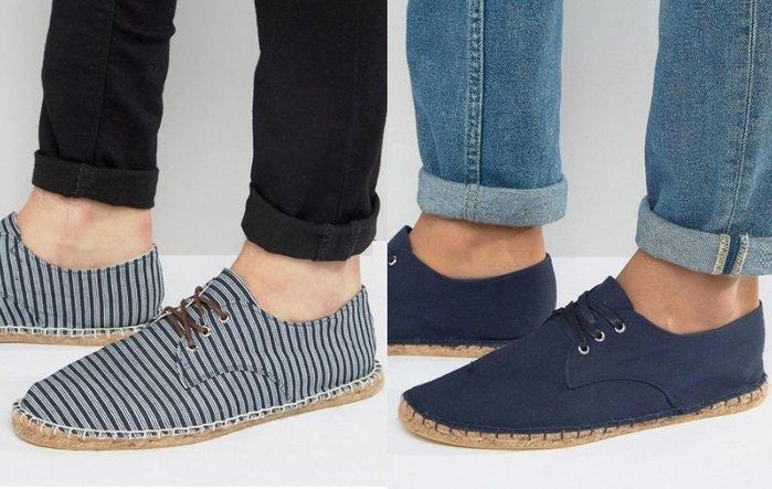 ◎美國代買◎ASOS藍條紋與素色海軍藍雙選擇搭配手縫線草編鞋底英倫休閒風文青草編鞋帶款平底休閒鞋