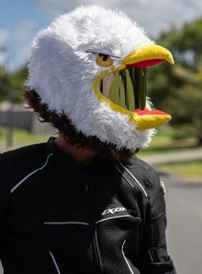 【丹】A_Moto Loot Helmet Cover 安全帽套 芝麻街 老鷹