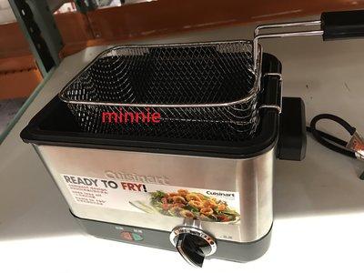 Cuisinart 不鏽鋼 輕巧型 油炸鍋 CDF-100TW