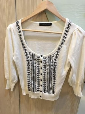 小花別針、專櫃品牌【Clear impression 】日本牌針織外套