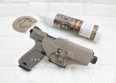 台南 武星級 Action Army AAP-01 瓦斯槍 沙 + 12KG 威猛瓦斯 + 槍套 ( GBB槍BB槍