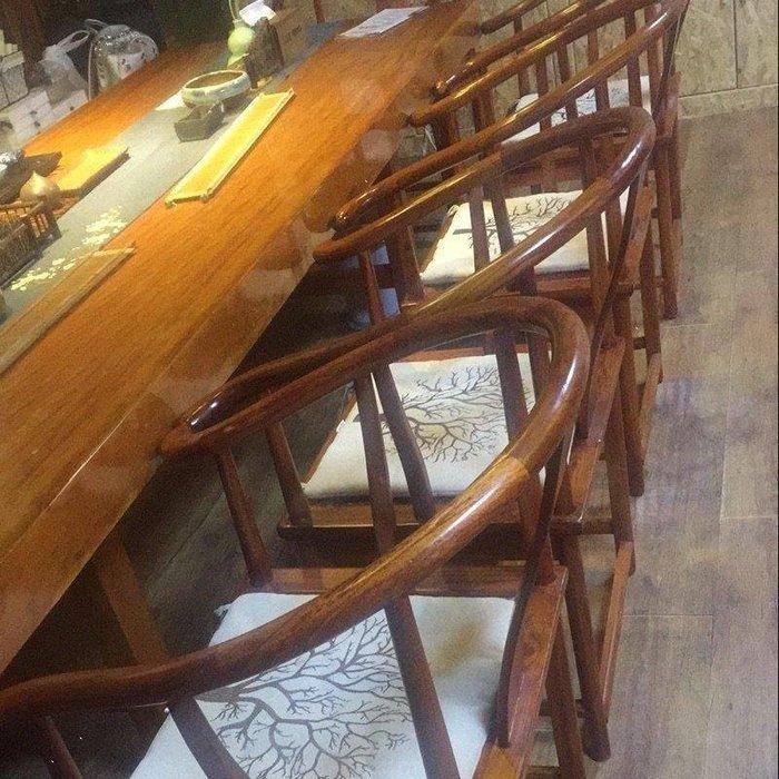 ✿歐拉部落✿棉麻中式簡約式現代田園餐椅坐墊辦公室椅子墊防滑綁帶薄款座墊四季LDB68