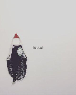 「s.Luu」現貨:法國品牌Filt漁網袋黑白配M號短把 法國製造,日本愛用