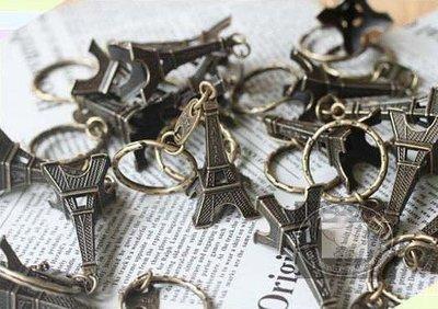 幸福朵朵*復古巴黎鐵塔鑰匙圈(艾菲爾鐵塔鑰匙圈).擺飾.開幕禮.來店禮.禮品.贈品.日韓zakka雜貨婚禮小物