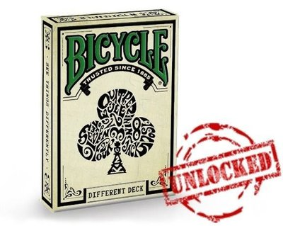 【USPCC撲克】Bicycle Different deck green back  腳踏車與眾不同