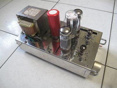 台裝手工搭棚不銹鋼鏡面EL34單端真空管綜合擴大機