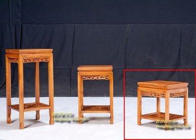 【DYL】柚木全實木方型實木低花架(全館一律免運費)
