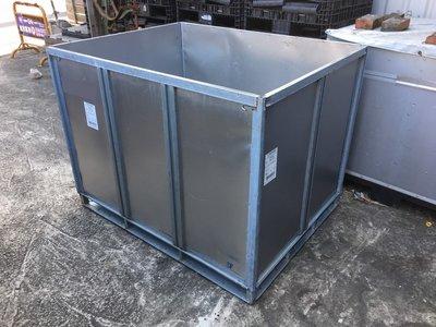 二手 大鐵箱 大鐵桶 鐵棧板 垃圾桶 回收桶 包裝箱 蝴蝶籠 可拆卸組裝