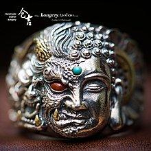 ℘一間*視覺↳御級手工戒指S925銀一念之間男女開口戒指指環時尚個性霸氣飾品cj-3