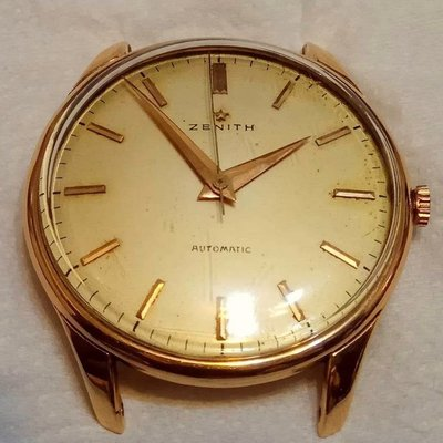 先力,先力詩,ZENITH,18k金,稀有的撞槌錶,改換收藏,可交流勞力士1803、18038、18238喜歡再談