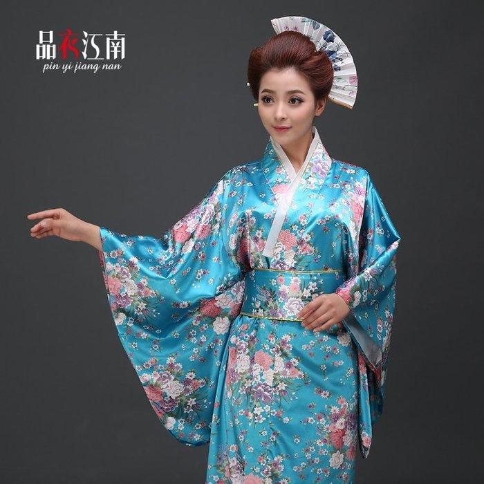 「全店免運」和服日本女式傳統櫻花振袖正統和服正裝長款寫真 【品壹家店】