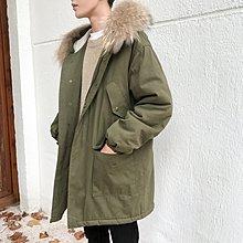 【匠人服飾】寬松中長款棉衣男士冬季韓版連帽外套男工裝潮流冬裝棉襖情侶衣服
