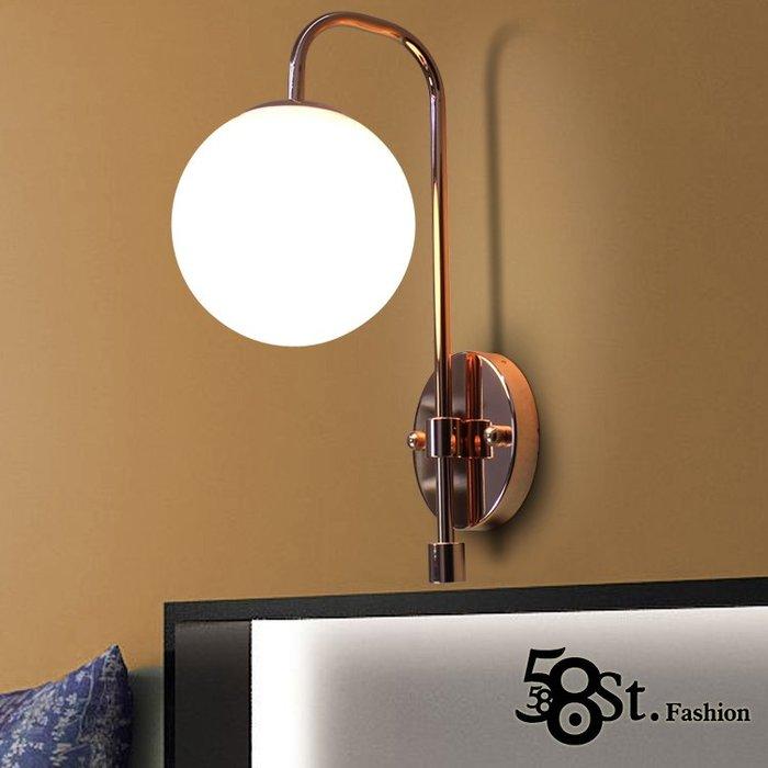 【58街】「玫瑰金壁燈 」極致典雅品味/燈具/美術燈。複刻版。GK-415