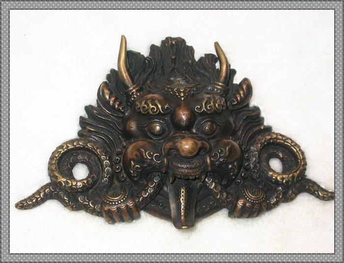 【雅之賞|藏傳|佛教文物】*特賣* 尼泊爾 大鵬金翅鳥 銅飾掛件~Q1070