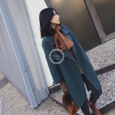 【2A Two】↝ 首爾雙面90%羊絨超美版型綁帶手工縫製大衣外套『BA0222』