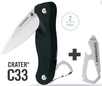 【原型軍品】全新 II LEATHERMAN CRATER C33 折刀 + LEATHERMAN 7小型多功能工具