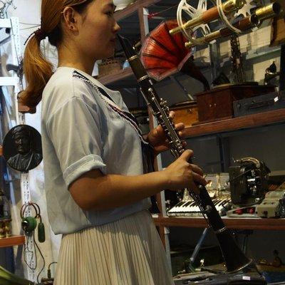 百寶軒 國產二手老物件單簧管黑管笛子道具擺件裝飾陳設 ZG1191