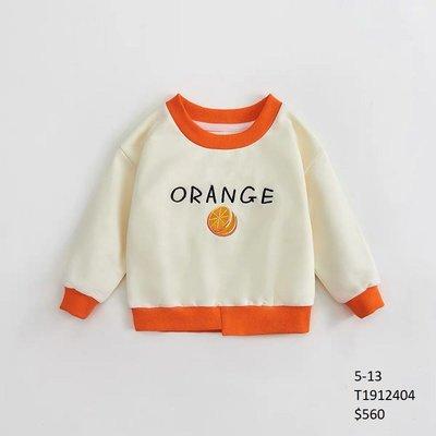 【Girl】 JC BABY 可愛橘子長袖上衣(米黃色) #T1912404