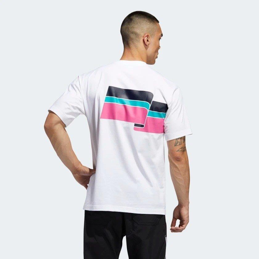 【Dr.Shoes 】Adidas Originals 男裝  Ripple 短袖 彩帶 短T 彩虹 白色 FM1531