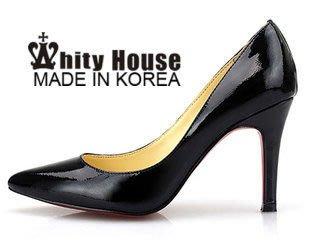 =WHITY=韓國高級LOWEEN代購‧內外全真皮羊皮 有大碼 義大利製 全真皮高跟鞋 OL  S3CR813
