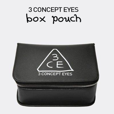 【東東雜貨】韓國3CE大容量加高版立體兩色可選化妝包手拿包手機包隨身收納包洗漱包盥洗包過夜包萬用包筆袋隨身包筆刷包小物包