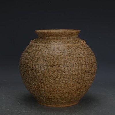 ㊣姥姥的寶藏㊣ 戰國越窯原始青瓷雙系罐子  出土文物古瓷器手工古玩古董收藏擺件