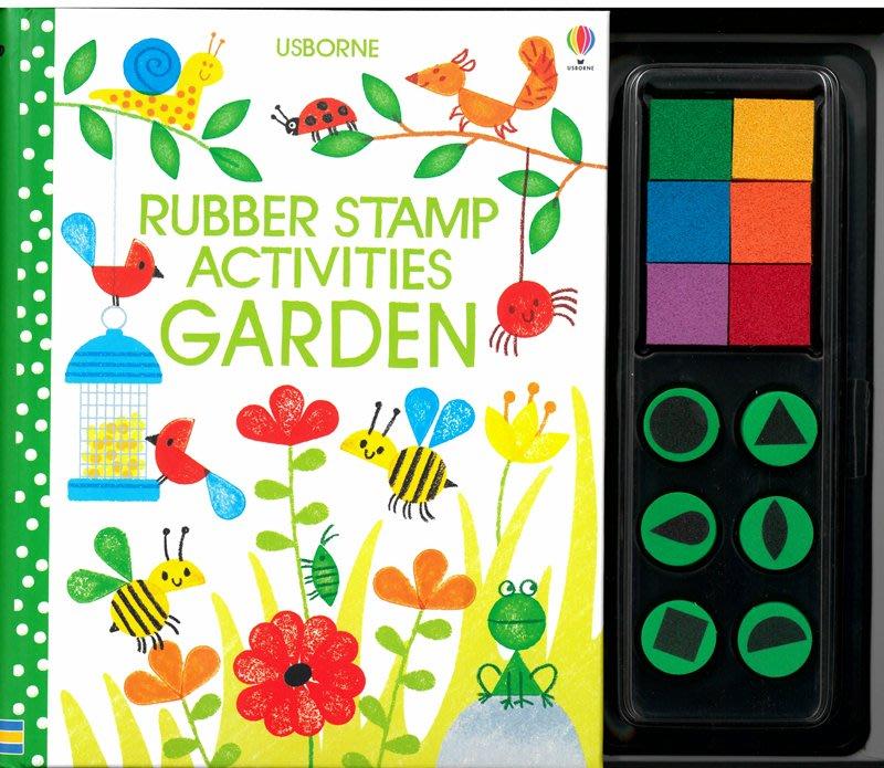 *小貝比的家*RUBBER STAMP ACTIVIES: GARDEN/硬頁/5-6歲大班/美感藝術操作書