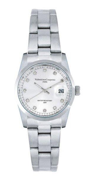 (六四三精品)Valentino coupeau(真品)(全不銹鋼)精準女錶(附保証卡)12168SL-15