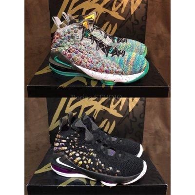 【Boring】NIKE LEBRON XVII LJFF GS彩色女籃球鞋CW2761-300黑紫BQ5594-004