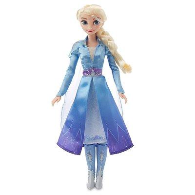 預購 美國帶回 Disney Frozen 2 迪士尼冰雪奇緣公主 會唱歌的Elsa 芭比娃娃 生日禮