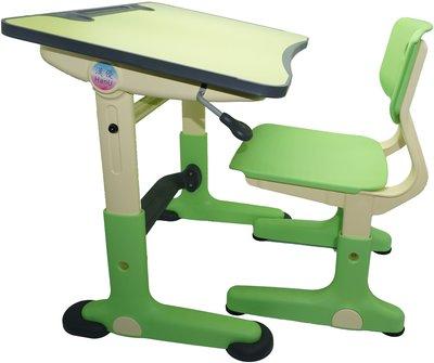 賠本出清 (韓國熱銷) HanU兒童健康全成長書桌椅(桌+椅) (限護眼綠色)
