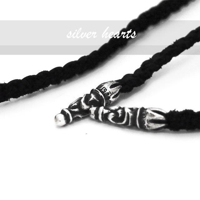 【SILVER HEARTS】Goro's Chrome Hearts克羅心 小墜飾麂皮辮帶 皮繩 項鍊繩