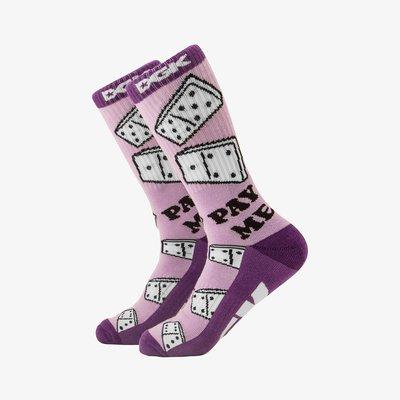 [CABAS滑板店] DGK PAY ME SOCK 紫色 │滑板 品牌 長襪 低級客