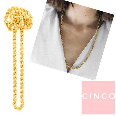 CINCO 葡萄牙精品 Bia necklace 24K金長項鍊 65公分簡約粗鍊