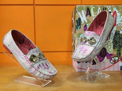 【阿典鞋店】**Macanna**麥坎納專櫃~西西里系列~全新黃牛皮+羊皮壓紋真皮加州包子鞋04217S