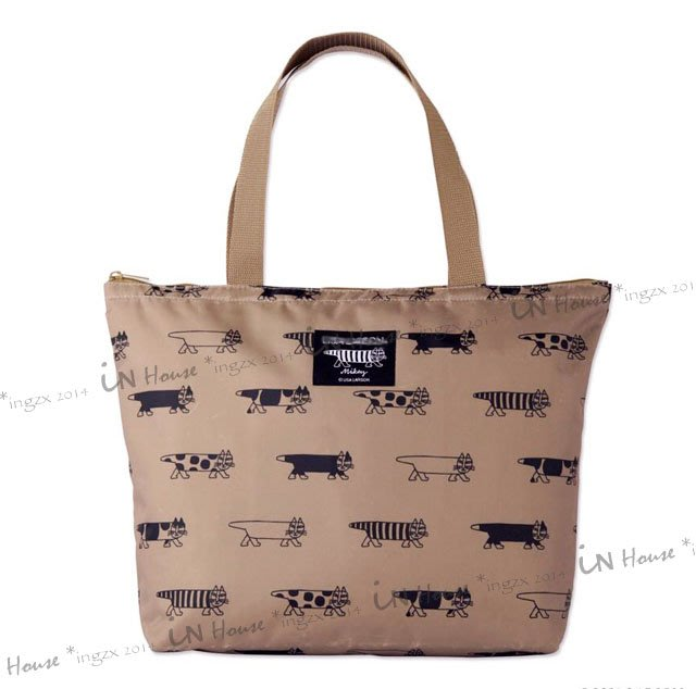 IN House*🇹🇼現貨 TOTE 日本雜誌 北歐風 瑞典 手繪 貓咪 手提包 托特包 單肩包 大容量 購物袋