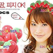 DIY電髮 海綿寶寶捲髮球 草莓捲髮球 士多啤梨卷髮球 海綿髮捲 曲髮波波 紅色一包6個