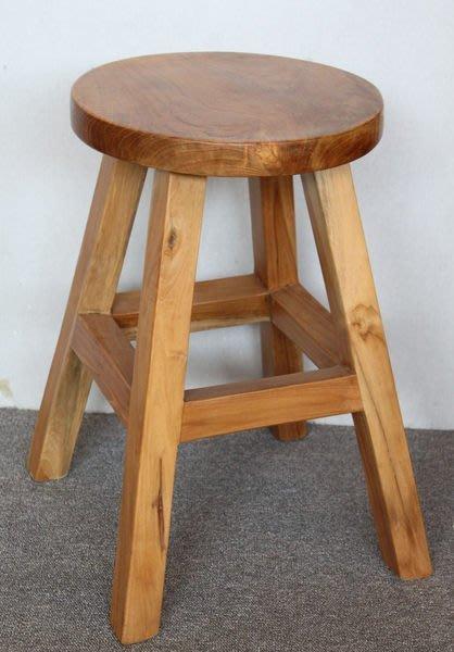 【美日晟柚木家具】CH 21 (厚料)圓凳&電腦椅&餐椅&工作椅&寫字椅&古早椅凳。柚木傢俱