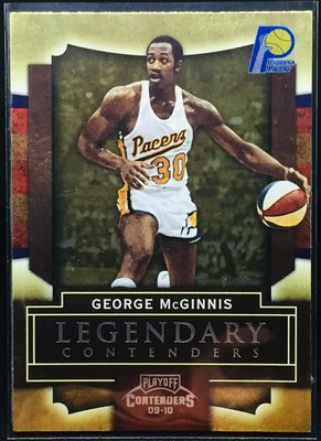 GEORGE McGINNIS 2009-10 CONTENDERS LEGENDARY #18 特卡