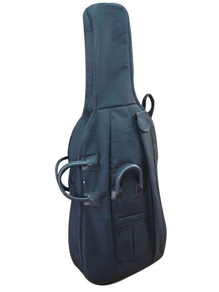【六絃樂器】全新高級大提琴袋 超厚硬挺材質 1/2 3/4 4/4 三種 / 現貨特價