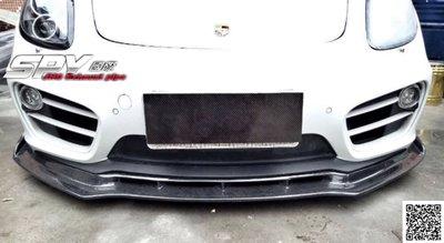 SPY國際  Porsche 保時捷 981 Cayman Boxster 碳纖維 前下巴 卡夢