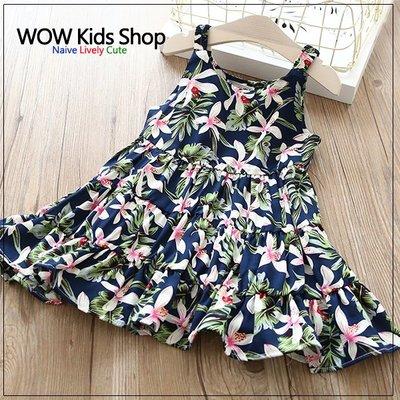 ~Wow 鋪~GS180508     女童夏日百合向日葵花朵連身裙 洋裝  1820