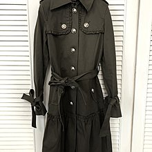 原價三萬多 pridgelide 橄欖綠厚棉軍裝繫帶外套