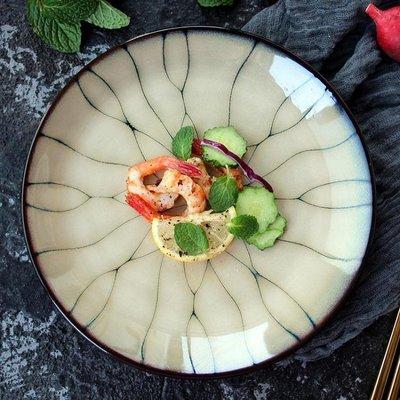 點心盤高檔窯變釉陶瓷壽司盤子日料盤餐盤菜盤點心盤餐廳